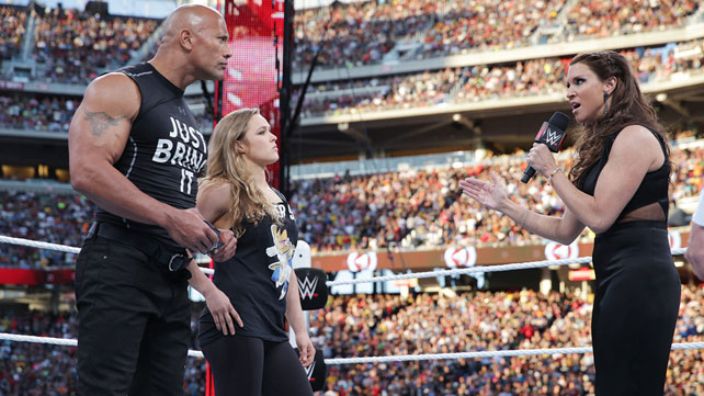 WWE WrestleMania 31 Review Brock Lesnar Vs Roman Reigns Sting The Rock And More