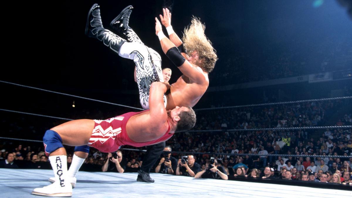 Image result for WWE Backlash 2002 Kurt Angle vs Edge
