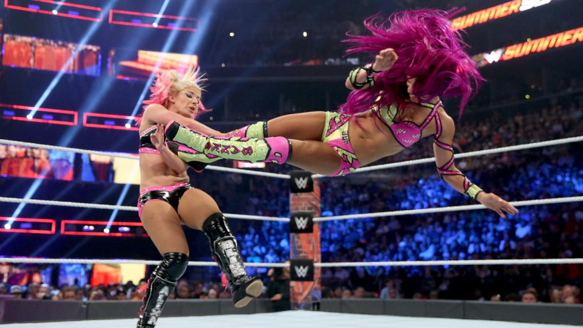 WWE SummerSlam Results: Alexa Bliss [c] vs. Sasha Banks - Raw Women's Championship""
